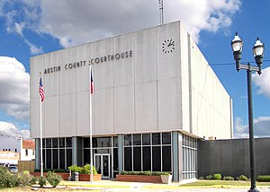 English: The Austin County Courthouse located ...