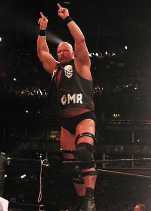 WrestleMania X-Seven - Stone Cold Steve Austin, challenger for the WWF Championship.