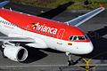 Avianca Airbus A318 N592EL (6156503156).jpg