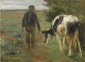 BAUER MIT KUH (FARMER AND COW).PNG