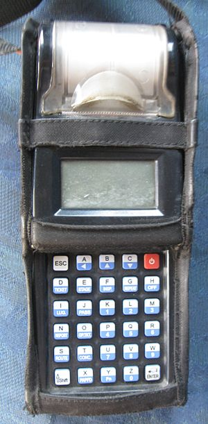 Ticket machine - A handheld ticket machine used in BEST buses in Mumbai