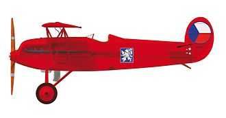 "Avia BH-21 - Avia B.21.96, nicknamed ""Red devil"", which flew Czechoslovak acrobatic flyer František Malkovský. He died in its cockpit after the crash in Karlovy Vary on 8th June 1930"