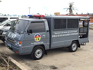 Bureau of Jail Management and Penology -  A Mitsubishi L-300 FB Prisoner Transport Vehicle in Tacloban