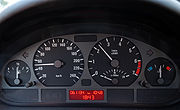 BMW 320i E46 instrument cluster during fuel cut-off (aka).jpg