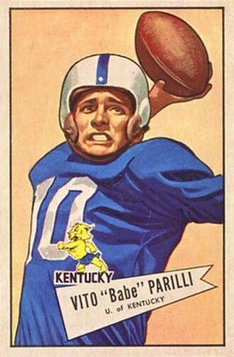 Babe Parilli - Image: Babe Parilli 1952 Bowman Large