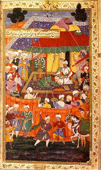 Autobiography - A scene from the Baburnama