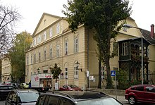 Baden bei Wien, Kaiser-Franz-Ring 11, Sterbehaus von Moritz Gottlieb Saphir (Eisenstädterhaus)[1] (Quelle: Wikimedia)