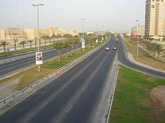 Transport in Bahrain - A trunk highway in Manama