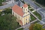 Bakonyszombathely, Szent Imre herceg templom légi felvételen.jpg