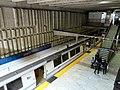 Balboa Park station platform from Geneva Avenue underpass, March 2018.JPG