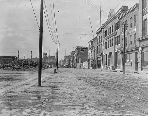 Baltimore Fire 1904 - West from Pratt and Gay Streets 1906, 2 years later a