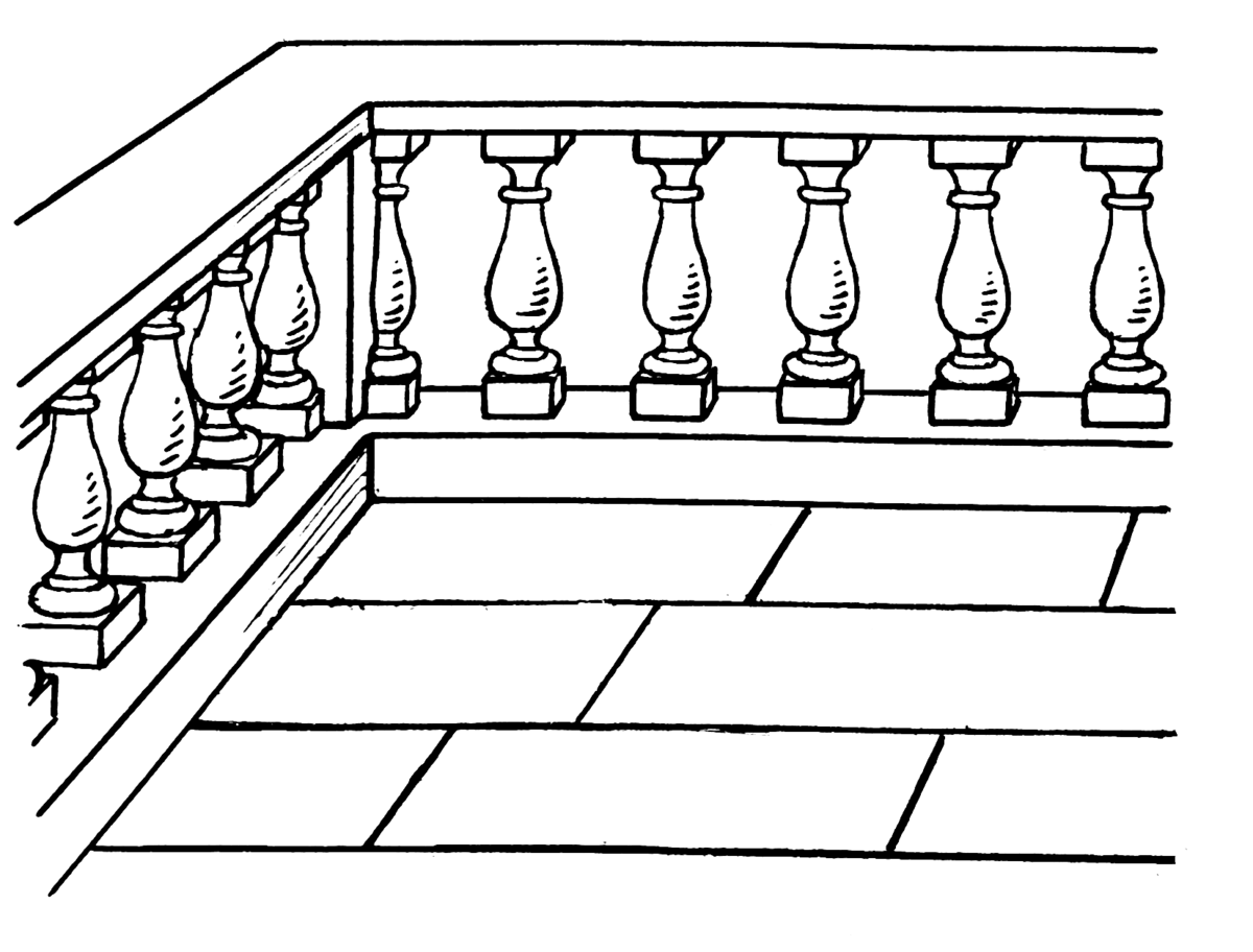 Baluster wikipedia for Definition for balcony