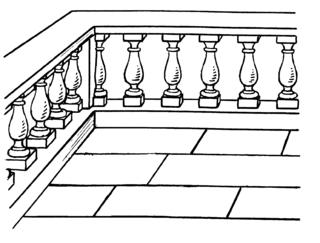 Baluster architectural element; moulded shaft