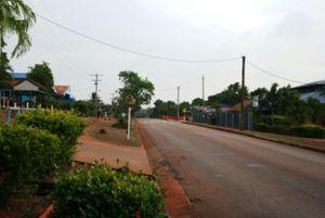 Bamaga - Main street of Bamaga