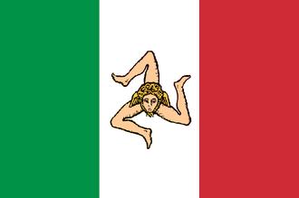 Sicilian revolution of 1848 - Image: Bandiera dello Stato della Sicilia (28.04.1848 15.05.1849)