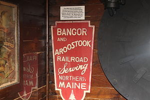 Cole Land Transportation Museum - Image: Bangor and Aroostook Railroad emblem IMG 2529