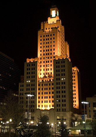Walker & Gillette - Industrial Trust Tower, Providence, Rhode Island, 1927