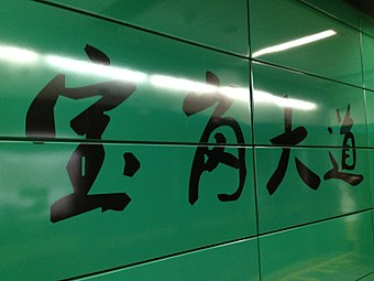 Baogang Dadao Station WORD.JPG