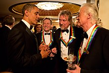 Led zeppelin wikipedia led zeppelin were honoured by us president barack obama at the 2012 kennedy center honors voltagebd Images