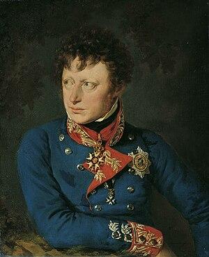 Clemens von Raglovich - Raglovich, portrait of about 1822
