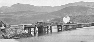 Barmouth Bridge - Barmouth Bridge in about 1921