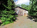 Barn with Tree Shadows Art in the Garden Hillsborough NC 3705 (36143412325).jpg