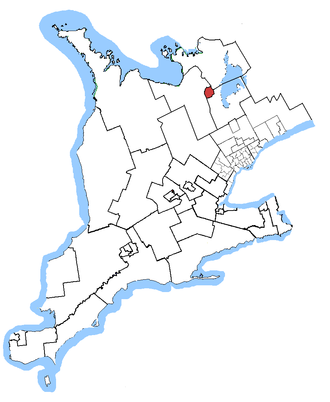 Barrie (electoral district) - Barrie in relation to other Ontario electoral districts