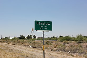 Barstow, Texas - Barstow city limits