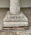 Base of a column from the courtyard of the Antim Monastery, behind the church.jpg