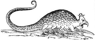 Ulisse Aldrovandi - Image: Basilisk aldrovandi