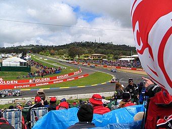 The Bathurst 1000, held at Mount Panorama Circuit in Bathurst Bathurst Racktrack Holden Corner.jpg
