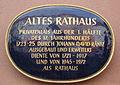 Bayreuth Maximilianstrasse 33, Altes Rathaus, Schild, 03.04.07.jpg