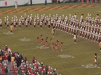 Florida Classic - The 14 Karat Gold Dancers of the BCU Marching Wildcats during halftime at the Florida Classic.