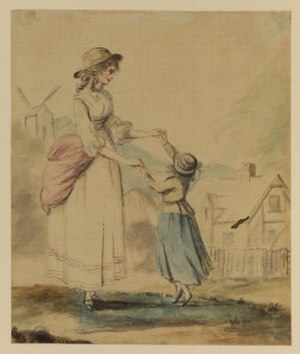"Lady Diana Beauclerk - ""Lady and child dancing"", by Lady Diana Beauclerk"