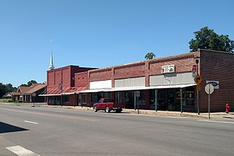 Beebe, Arkansas - Streetside along N. Main Street in downtown Beebe