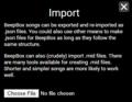 BeepBox Import Screen.png