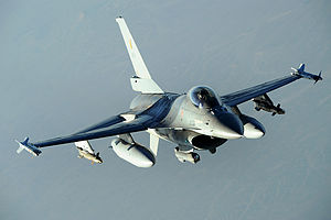 349th Squadron (Belgium) - Belgian F-16 Fighting Falcon of 349th Squadron over Afghanistan, 2008.