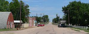 Belvidere, Nebraska - Downtown Belvidere: C Street, looking north