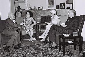 Donald Coggan - Image: Ben Gurion Archibiship of York 1961