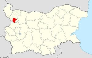 Berkovitsa Municipality - Image: Berkovitsa Municipality Within Bulgaria