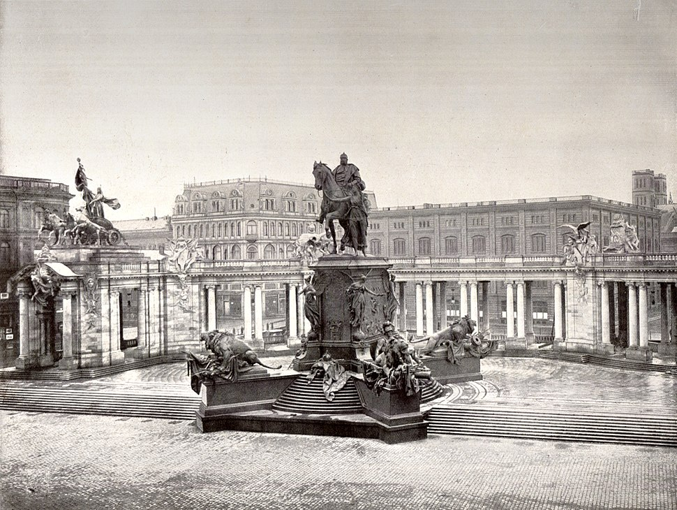 Berlin Nationaldenkmal Kaiser Wilhelm 1900