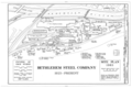 Bethlehem Steel Company, Site Plan 1983 - Cambria Iron Company, East side of Conemaugh River, Johnstown, Cambria County, PA HAER PA,11-JOTO,135- (sheet 8 of 8).png