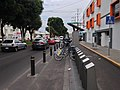 BiciPuebla station with a bike lane.jpg