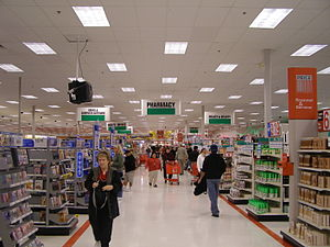 Over illumination - Some big-box retail stores are over illuminated.