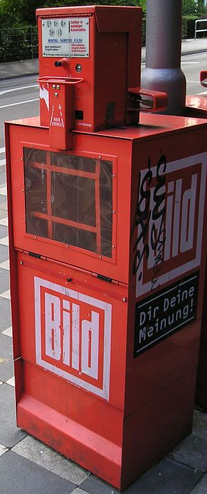 Bild - Bild tabloid vending machine in Germany