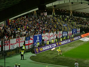 2011–12 Birmingham City F.C. season - Visiting Birmingham fans during the club's first away appearance in group stage of the UEFA Europa League in 2011