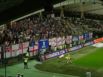 Birmingham City F.C. - Visiting Birmingham fans during the club's first away appearance in group stage of the UEFA Europa League in 2011