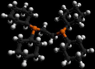 Bis(dicyclohexylphosphino)ethane - Image: Bis(dicyclohexylphos phino)ethane 3D balls by AHRLS 2012