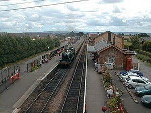 Bishops Lydeard railway station - View from the bridge at the north end