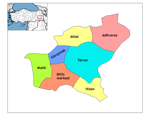 Bitlis'in ilçeleri